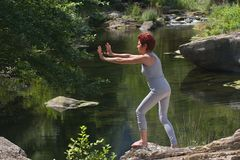 chi ćwiczyć tai kobiety Zdjęcie Stock