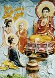 chi chińska ho minh malowidła ściennego saigon świątynia Vietnam obrazy stock