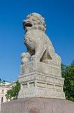 Chi chinois Tza de lions au remblai de Petrovskaya Image libre de droits