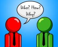 Chi come perché indica quale Person And Ask Immagine Stock