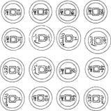 chińczycy monety Ilustracji