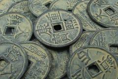 chińczycy monety Zdjęcia Royalty Free