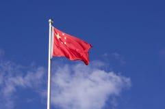 Chińczyk flaga Fotografia Stock