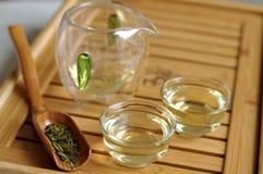 chińczyk herbata zielona ustalona Zdjęcia Stock