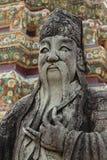 Chińczyk kamienna statua w Wacie Pho, Tajlandia Obrazy Stock