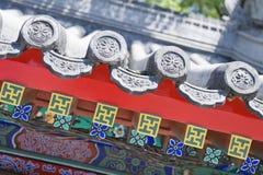 Chińczyka dachowy obdzierganie Zdjęcie Royalty Free