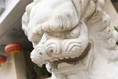 Chińczyka kamienny lew Obrazy Royalty Free