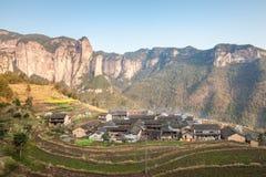 Chińczyka Shenxianju wioski pierwotna natura Obrazy Royalty Free