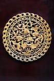 chińczyka woodcarving rybi lotosowy Zdjęcia Stock