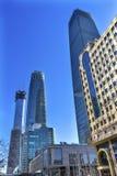 'chi' di Pechino di tre grande dei grattacieli torri del World Trade Center Z15 Immagini Stock