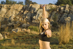 chi fu kung parka tai kobieta Fotografia Stock