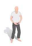 chi gimnastyk kung pozycje royalty ilustracja