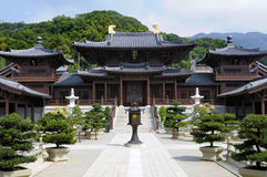 Chi Lin Buddhist Temple Hong Kong, landscape Royalty Free Stock Photos