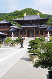 Chi Lin Buddyjska świątynia Hong Kong, środkowy podwórze, pionowo obraz stock