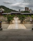 Chi Lin. Nunnery in Hong Kong royalty free stock images