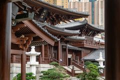 Chi Lin. Nunnery in Hong Kong royalty free stock photography
