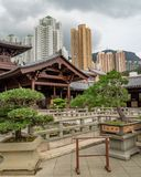 Chi Lin. Nunnery in Hong Kong stock photography