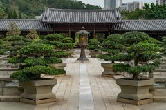 Chi Lin. Nunnery in Hong Kong stock image