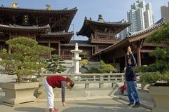 Chi Lin monaster w mieście Hongkong Obraz Royalty Free