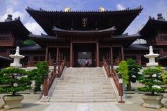 Chi Lin-Nonnenkloster, Zapfendynastie-Art Chinesetempel stockbild