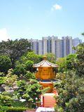 Chi lin nunnery. Is a large Buddhist temple complex located in Diamond Hill, Kowloon, Hong Kong. It was founded in 1934 as a retreat for Buddhist nuns and was stock image