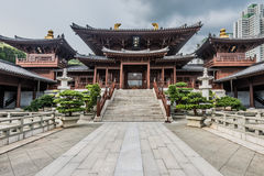 Chi Lin Nunnery courtyard Kowloon Hong Kong Royalty Free Stock Photography