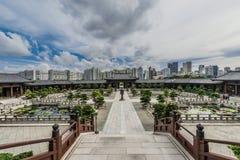 Chi Lin Nunnery courtyard Kowloon Hong Kong Royalty Free Stock Images