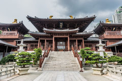 Chi Lin Nunnery courtyard Kowloon Hong Kong. Chi Lin Nunnery courtyard at Kowloon in Hong Kong royalty free stock photos