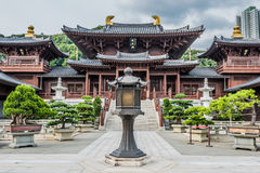 Chi Lin Nunnery courtyard Kowloon Hong Kong Royalty Free Stock Image