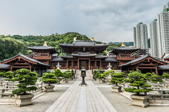 Chi Lin Nunnery courtyard Kowloon Hong Kong Stock Photography