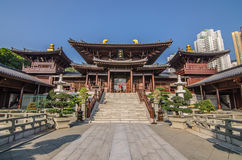 Chi Lin Nunnery in Diamond Hill District of Hong Kong. Royalty Free Stock Image