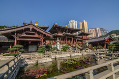Chi Lin Nunnery in Diamond Hill District of Hong Kong, Stock Photo