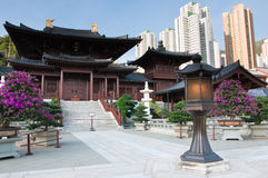 Chi Lin Nunnery, Hong Kong. Chi Lin Nunnery in Hong Kong. The traditional architecture in the Tang Dynasty Style stock photo