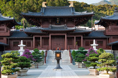 Chi Lin Nunnery, Hong Kong. Chi Lin Nunnery in Hong Kong. The traditional architecture in the Tang Dynasty Style royalty free stock images