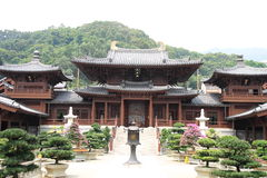 Chi Lin Nunnery, Hong Kong. Chi Lin Nunnery where is one of the most famous temples in Hong Kong royalty free stock photo