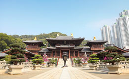 Chi Lin Nunnery Hong Kong. Image of the buddist temple at Chi Lin Nunnery Hong Kong royalty free stock images
