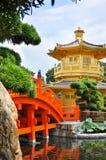 Chi Lin Nunnery, Hong Kong. Tang Dynasty Golden Pavilion in Chi Lin Nunnery, Hong Kong Stock Photography