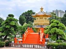 Chi Lin Nunnery, Hong Kong. Tang Dynasty Golden Pavilion in Chi Lin Nunnery, Hong Kong Stock Photos
