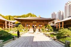 The Chi Lin Nunnery at Kowloon stock photo