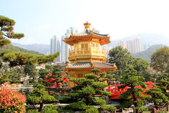 Chi Lin Nunnery, a large Buddhist temple complex located in Diam. Ond Hill, Kowloon, Hong Kong Royalty Free Stock Photo