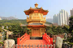 Chi Lin Nunnery, a large Buddhist temple complex located in Diam. Ond Hill, Kowloon, Hong Kong Stock Image