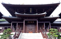 Chi Lin Nunnery in Hong Kong stock image