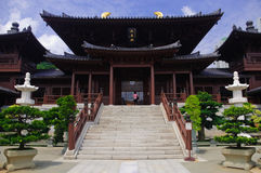 Chi lin Nunnery, Tang dynasty style Chinese temple stock image