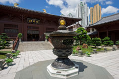 Chi lin Nunnery, Tang dynasty style Chinese temple, Hong Kong Stock Photos