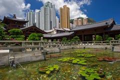Chi lin Nunnery, Tang dynasty style Chinese temple, Hong Kong.  Stock Photos