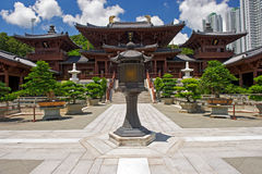 Chi lin Nunnery, Tang dynasty style Chinese temple, Hong Kong Stock Photography
