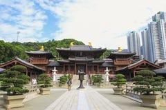 Chi lin Nunnery, Tang dynasty style temple, Hong Kong, China royalty free stock images