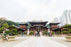 Chi Lin Nunnery Temple in Hong Kong auf Feburary 27.2016 lizenzfreie stockbilder