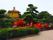 Chi Lin Nunnery Zen ogródu park Zdjęcie Stock