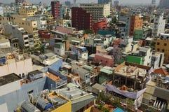 chi miasta ho minh saigon linia horyzontu Vietnam Zdjęcie Stock
